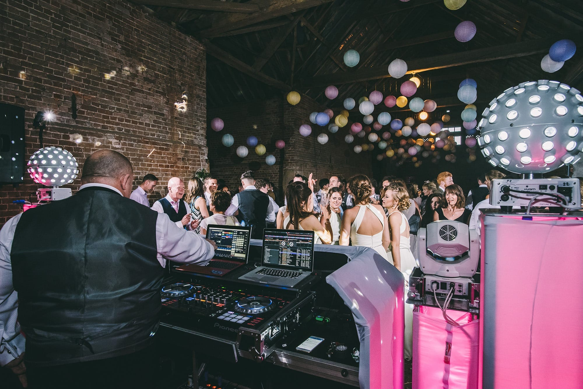 DJ Nick Chatten working hard at a recent wedding - 20 best top tips to hire your DJ