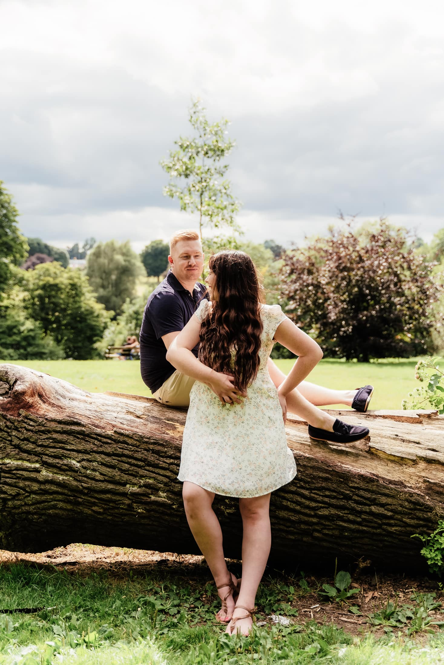 Carlie & Ben enjoying their engagement session - Engagement photography at mote park in maidstone, Kent
