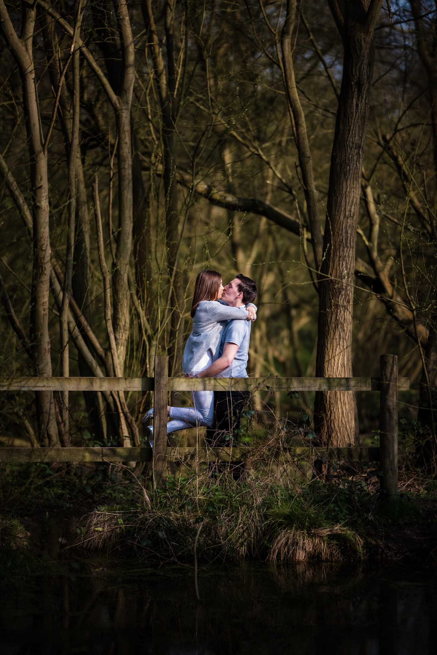 Charlotte and Colin haveing a lovely and romantic and fun time together at Langdon hills country park