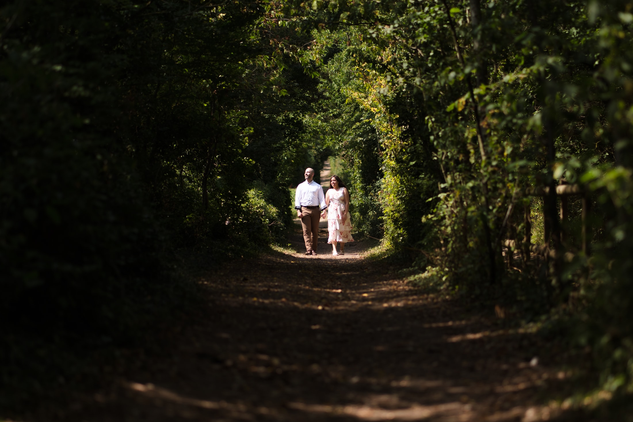 engagement photographer session of Charlotte and Mo at Lullingstone country park in Kent