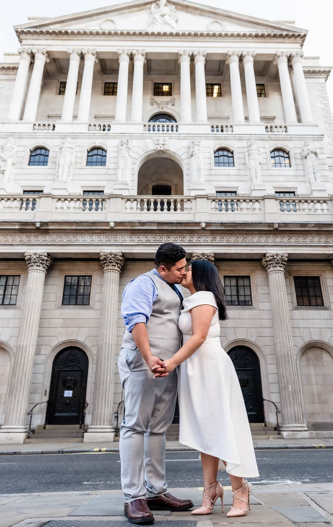 Kat and Naph enjoying a wonderful early morning pre-wedding session in London