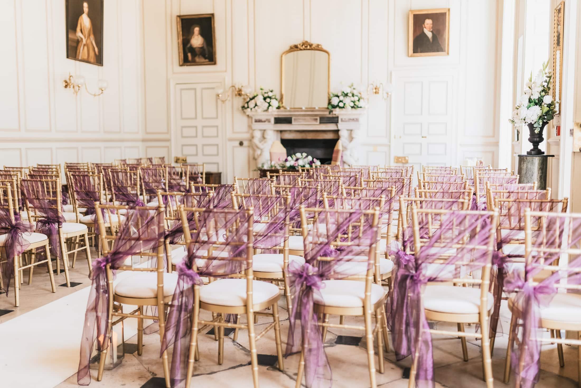 the grand salon at gosfield hall wedding venue