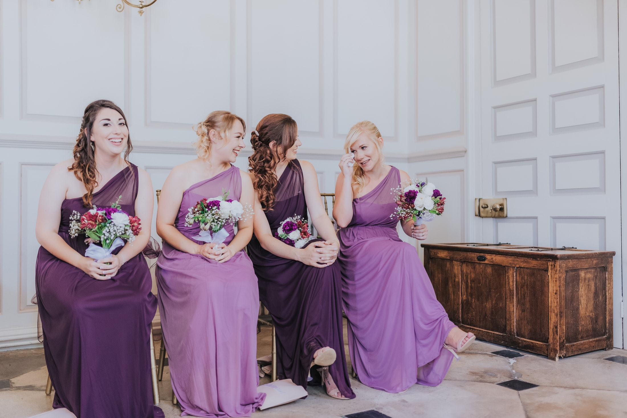 A few tears from the maid of honour - Essex Country House Wedding - Gosfield Hall